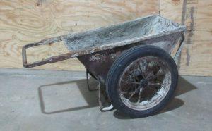 concrete wheelbarrow easy travel gear